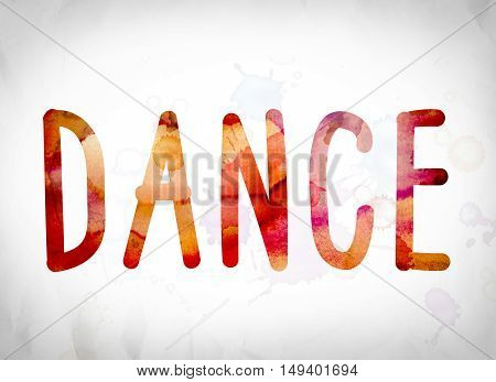 Dance Concept Watercolor Word Art