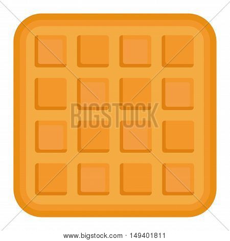 Biscuit cake isolated cookie on white background. Isolated vector food icon, biscuit isolated sweet dessert and delicious cake eating healthy cookie.