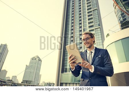 Businessman Working Connecting Concept