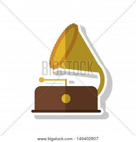 Saxophone instrument icon. Vintage retro and music theme. Isolated design. Vector illustration