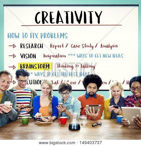 Creativity Innovation Brainstorm Plan Concept
