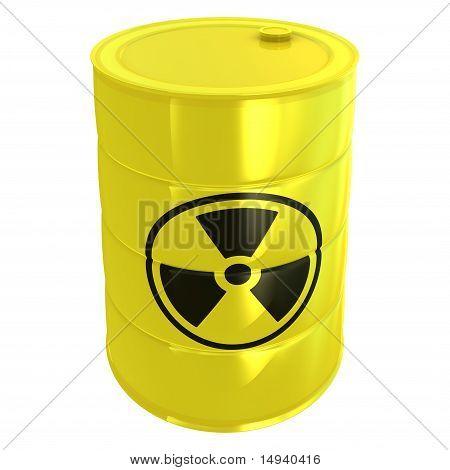 radioativo tanque isolado no branco