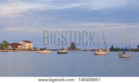Quiet Harbor in the Evening in Grand Marais Minnesota
