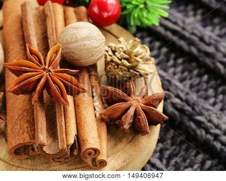 traditional Christmas spices cinnamon , anise, nutmeg