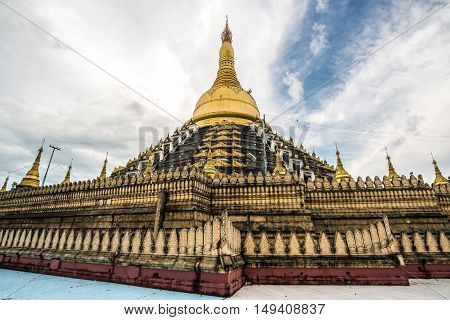 Mahazedi Pagoda the pagoda of King Bayinnaung of the Taungoo dynasty.in Bago, Myanmar.