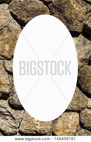 picture frame form Stacked Stone Wall , object