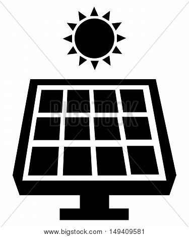 Solar energy Icon isolated electric eco blank concept sign