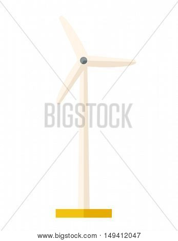 One windmill a energy resources. A Contemporary style. flat design illustration isolated white background. Vertical layout