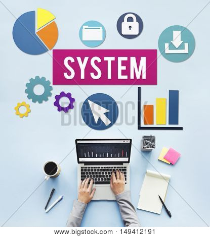 System Structure Technology Graphic Concept