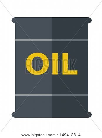 A Barrel with oil symbol. A Contemporary style. flat design illustration isolated white background. Vertical layout