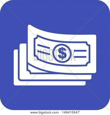 Cash, dollar, money icon vector image. Can also be used for currency. Suitable for web apps, mobile apps and print media.