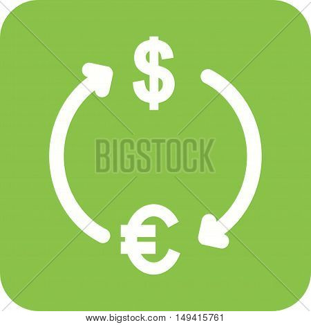 Money, dollar, exchange icon vector image.Can also be used for currency. Suitable for use on web apps, mobile apps and print media.