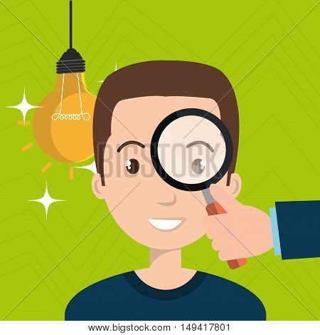 man search idea think vector illustration eps 10