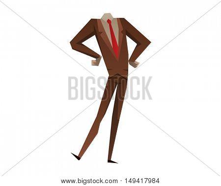 Businessman with no head vector illustration