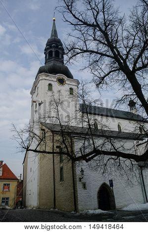 Tallinn, Estonia - March 27, 2010: Dome Church (Cathedral of Saint Mary the Virgin). Tallinn Estonia.