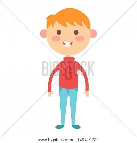 Cute boy vector illustration.