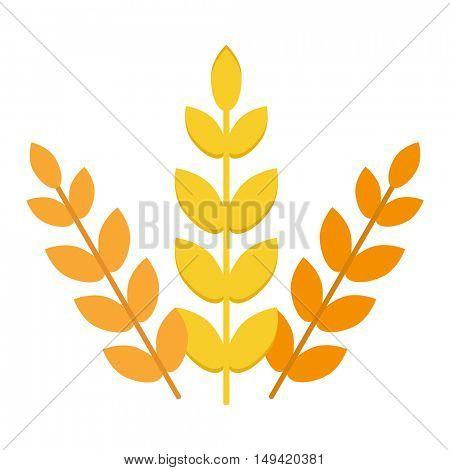 Wheat ear vector icon.