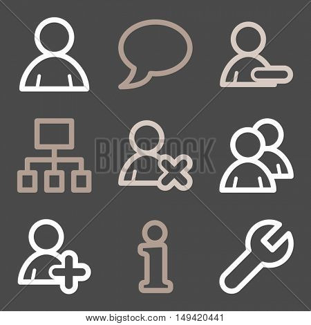 Social media mobile icons, infographics symbols.