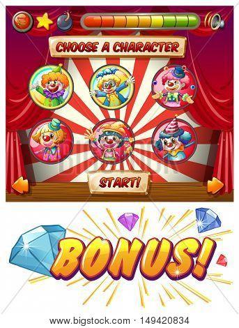Circus and clowns slot machine game