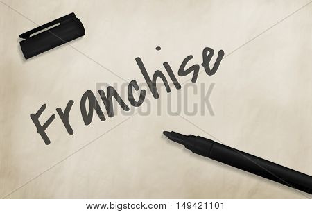 Franchise Business Work Mission Concept