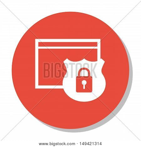Vector Illustration Of Seo, Marketing And Advertising Icon On Website Protection In Trendy Flat Styl