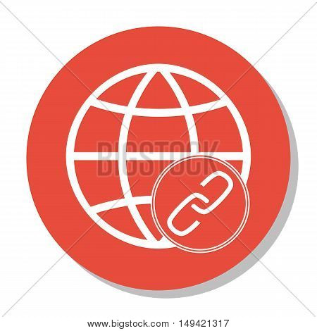 Vector Illustration Of Seo, Marketing And Advertising Icon On Link Building In Trendy Flat Style. Se