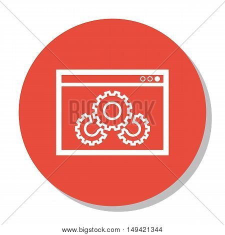 Vector Illustration Of Seo, Marketing And Advertising Icon On Website Optimization In Trendy Flat St