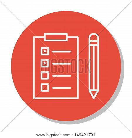 Vector Illustration Of Project Management Icon On Task List And Reminder In Trendy Flat Style. Proje