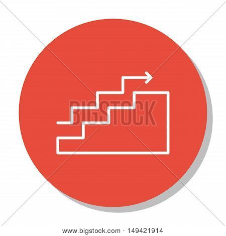 Vector Illustration Of Project Management Icon On Charts, Goals, Stats And Growth In Trendy Flat Sty