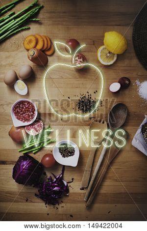 Food Wellness Ingredients Health Concept