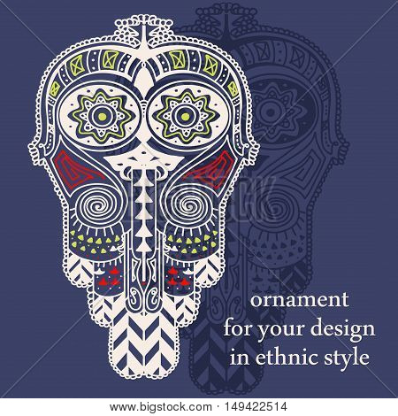 orient ethnic decorative element, native art, vector illustration