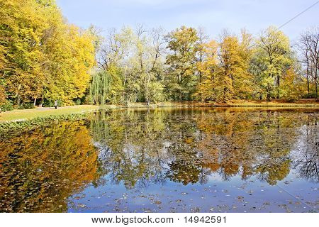 Seasons - autumn lake.