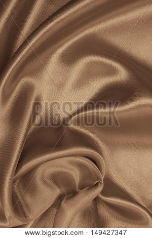 Smooth Elegant Golden Silk As Background. In Sepia Toned. Retro Style