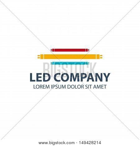 Led Bulb Logo. Led Company Logo. Led Illumination. Corporate Logo Design.