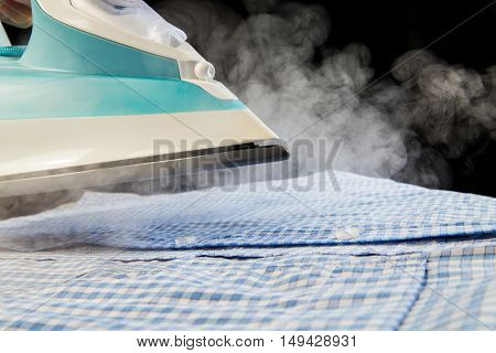 Shirt Ironing With Steam
