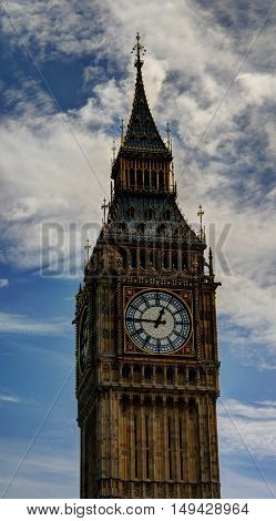 Top of Big Ben clock tower London UK
