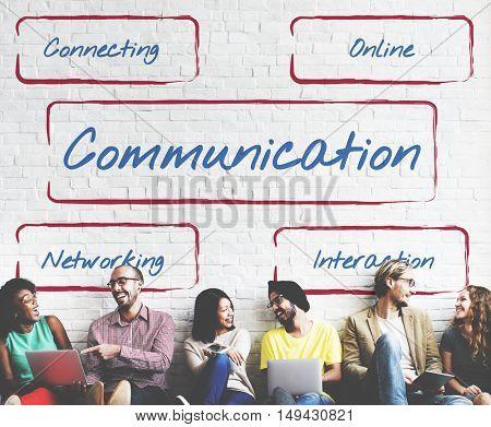 Social Network Connection Internet Digital Words Concept