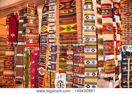 Traditional Mexico  handmade rugs in Oaxaca, Mexico.