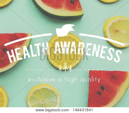 Food Nutrition Fit Graphic Healthy Watermelon  Orange Words Concept