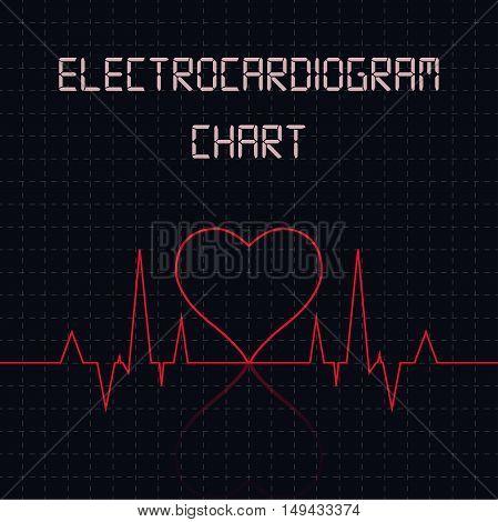 Electrocardiogram (ECG) chart table - healthcare infographic