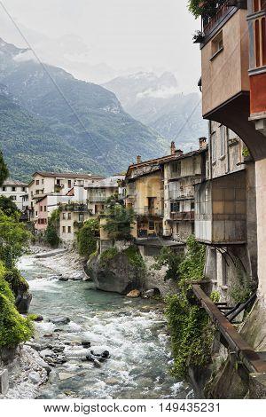 Chiavenna (Sondrio Lombardy Italy): view from the bridge