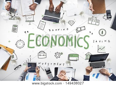 Economics Financial Business Banking Investment Concept