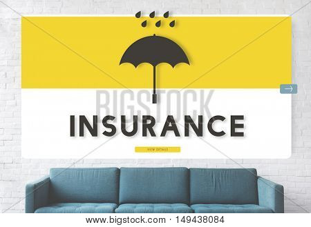 Couch Insurance Design Comfortable Concept