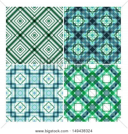 colorful ethnic vector seamless patterns set. Elements for your design. Eps10