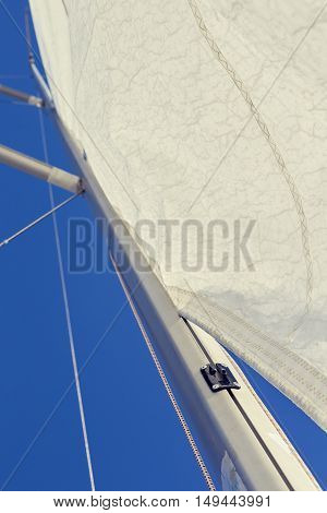 Front luff sail, Mast track sail incorrect use, and installation