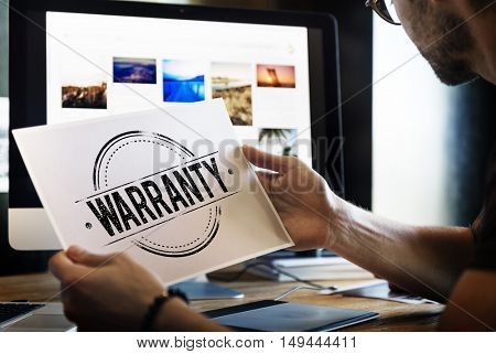 Business Warranty Design Company Concept