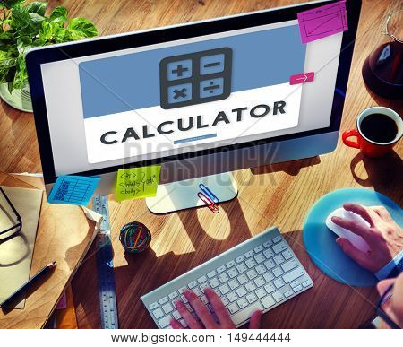Calculator Accounting Finance Budget Concept