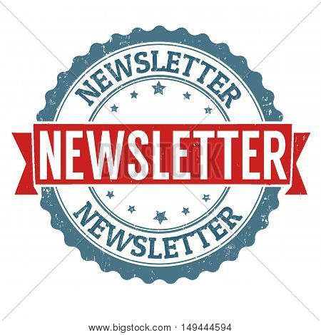 Newsletter Grunge Rubber Stamp