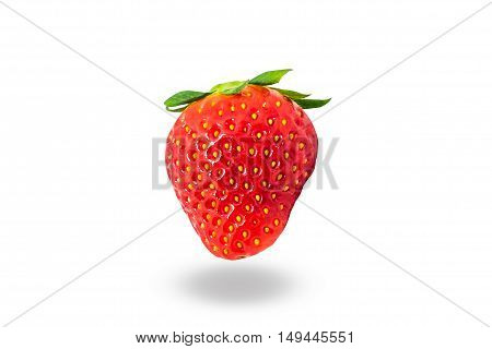 The fresh strawberry isolated on white background.