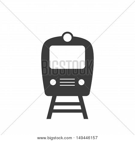 Train icon. Train Vector isolated on white background. Flat vector illustration in black. EPS 10